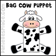 Cow Paper Bag Puppet Craft for Kids www.daniellesplace.com