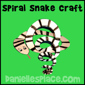 Adam and Eve spiral snake craft www.daniellesplace.com
