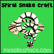 Adam and Eve Paper Spiral Snake Sunday School Craft from www.daniellesplace.com