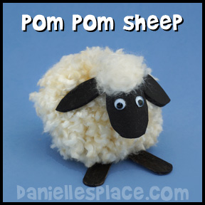 Pom Pom Sheep Craft from www.daniellesplace.com