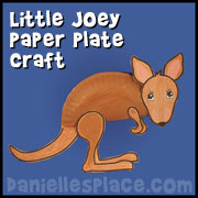 Joey - Kangaroo Paper Plate Craft from www.daniellesplace.com
