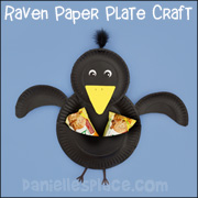 Bird Craft - Paper Plate Raven Craft from www.daniellesplace.com