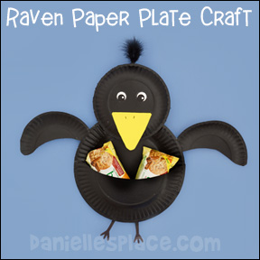 Raven Paper Plate Craft for Elijah Sunday School Lesson from www.daniellesplace.com
