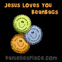 Jesus Loves You Bean Bag Craft from www.daniellesplace.com