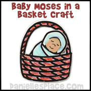 Baby Moses in a Basket Craft Stick Bible Craft for Kids from www.daniellesplace.com