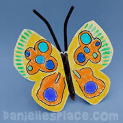 Paper Plate Fluttering Butterfly Craft for Kids
