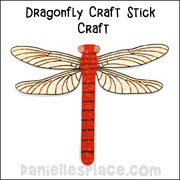 Dragonfly Craft for Kids from www.daniellesplace.com