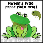 Frog Paper Plate Craft from www.daniellesplace.com