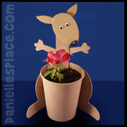 Kangaroo Planter Craft from www.daniellesplace.com