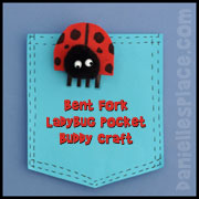 Ladybug Craft - Fork Pocket Buddy from www.daniellesplace.com