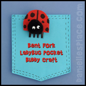 Ladybug Pocket Buddy Bent Fork Craft from www.daniellesplace.com