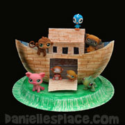 Noah's Ark Paper Plate Craft from www.daniellesplace.com