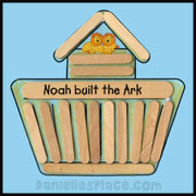 Noah's Ark Craft Stick Craft from www.daniellesplace.com