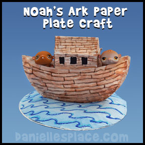 Noah's Ark Craft - Noah's Ark Paper Plate Craft for Sunday School from www.daniellesplace.com