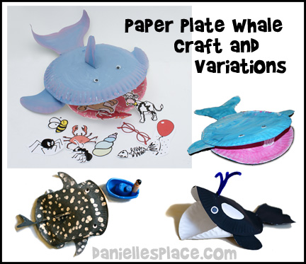 Paper Plate Whale Craft for Jonah and the Whale from www.daniellesplace.com