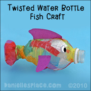 Twisted water bottle fish