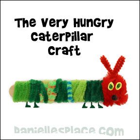 The Very Hungry Caterpillar Craft for Kids from www.daniellesplace.com