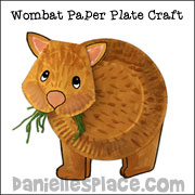 Wombat Paper Plate Craft from .daniellesplace.com  sc 1 st  Danielleu0027s Place & Paper Plate Crafts for Kids