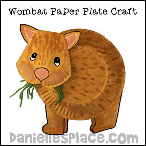 Wombat Paper Plate Craft For Kids From Wwwdaniellesplacecom