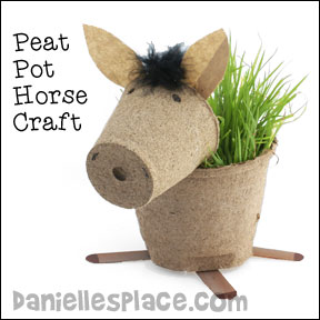 Horse Peat Pot Craft for Children from www.daniellesplace.com