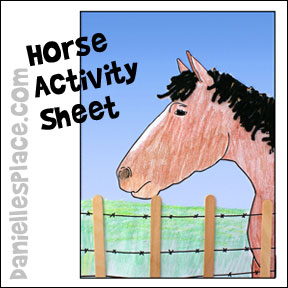 Horse Printable Activity Sheet from www.daniellesplace.com