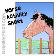 Horse Activity Sheet from www.daniellesplace.com