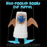 blue footed booby cup craft