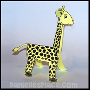 Giraffe Paper Craft From www.daniellesplace.com