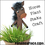 Horse Craft Stick Plant Stake Craft for Children
