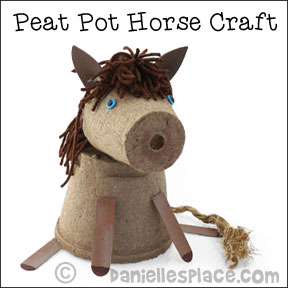 Peat Pot Horse Craft from www.daniellesplace.com