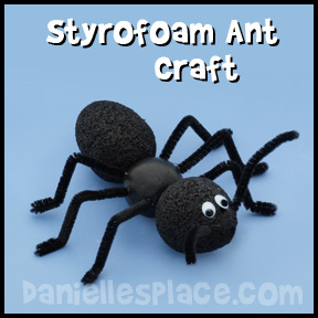 Styrofoam Ant Craft
