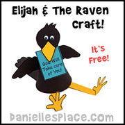 Sitting Raven Paper Craft for Elijah Bible Lesson from www.daniellesplace.com