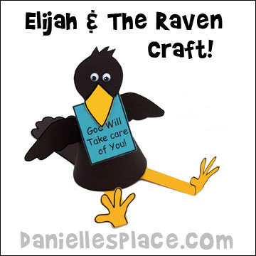 Elijah and the Raven Craft for Sunday School from www.daniellesplace.com