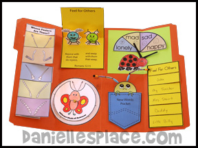 Feelers Lap Book Lessons from Bug Buddy Studies from www.daniellesplace.com