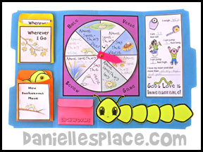 Inchworm Lap Book Lesson from Bug Buddy Studies from www.daniellesplace.com