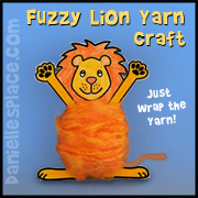 Fuzzy Lion Yarn Craft Bible School Craft for Children from www.daniellesplace.com