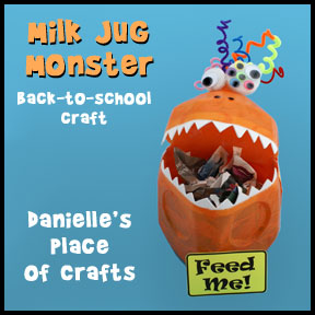 Milk Jug Monster Tabletop Garbage Can www.daniellesplace.com