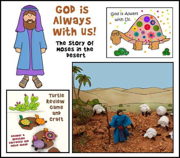 Moses Hides from Pharoh Bible Crafts and Activities
