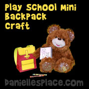 Teddy Bear Back Pack Back to School Craft from www.daniellesplace.com
