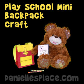 Mini Backpack to Play School Craft from www.daniellesplace.com