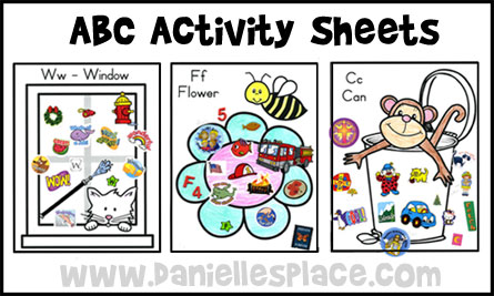 abc activity sheets from wwwdaniellesplacecom