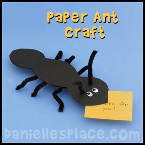 Paper Ant Bible Craft from www.daniellesplace.com