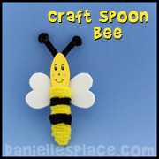 Bee Craft - Bee Craft Spoon Craft from www.daniellesplace.com