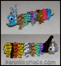 Caterpillar Craft from www.daniellesplace.com