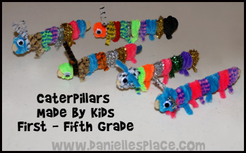 Caterpillar Crafts Made By Students From Daniellesplce