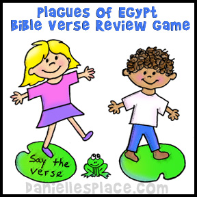 Plagues of Egypt Bible Verse Review Game from www.daniellesplace.com