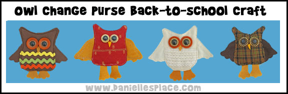 Owl Craft - Owl Lunch Money Change Purse Back-to-school Craft from www.daniellesplace.com