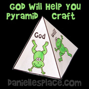 Pyramid Bible Verse Bible Craft for Sunday School from www.daniellesplace.com