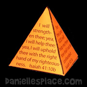 Bible Verse Pyramid Craft for Kids from www.daniellesplace.com