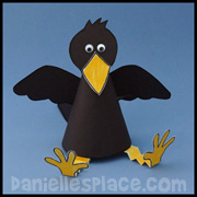 Raven paper cup craft